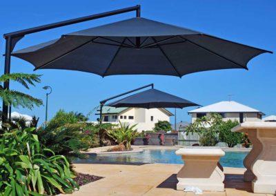 Double Black Pool Umbrellas