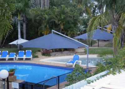 Charcoal Resort Pool Umbrellas