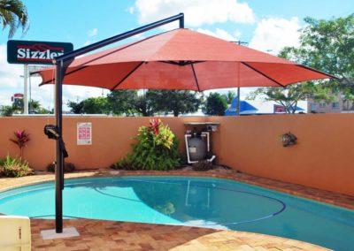 Red On Black Motel Pool Umbrella