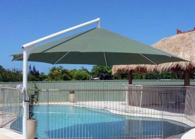 Olive Umbrella with Surf Mist Pole